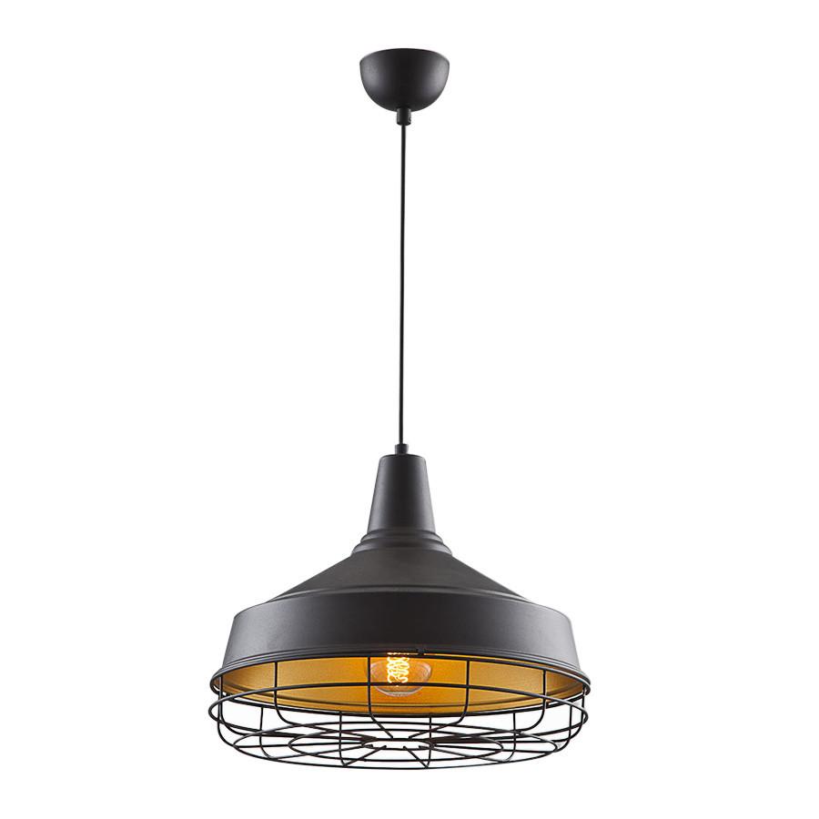 Čierno-zlaté stropné svietidlo In Fabrica
