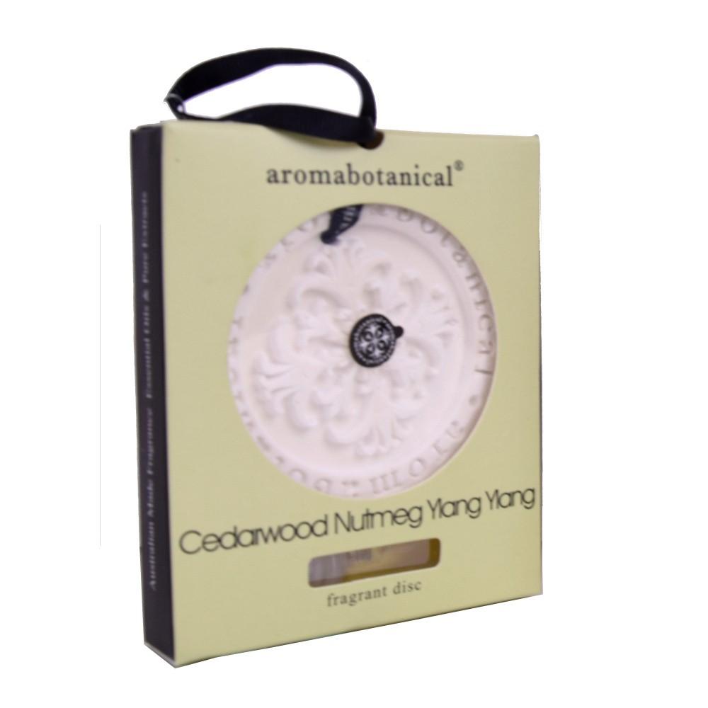 Disk z vonného ílu s éterickým olejom s vôňou cédrového dreva a muškátového orieška Aromabotanical