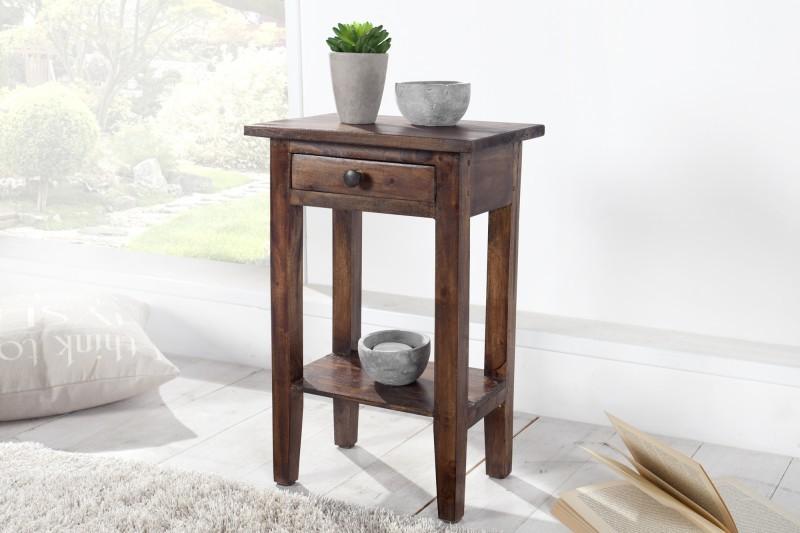 Odkladací stolík HEWING - kávová
