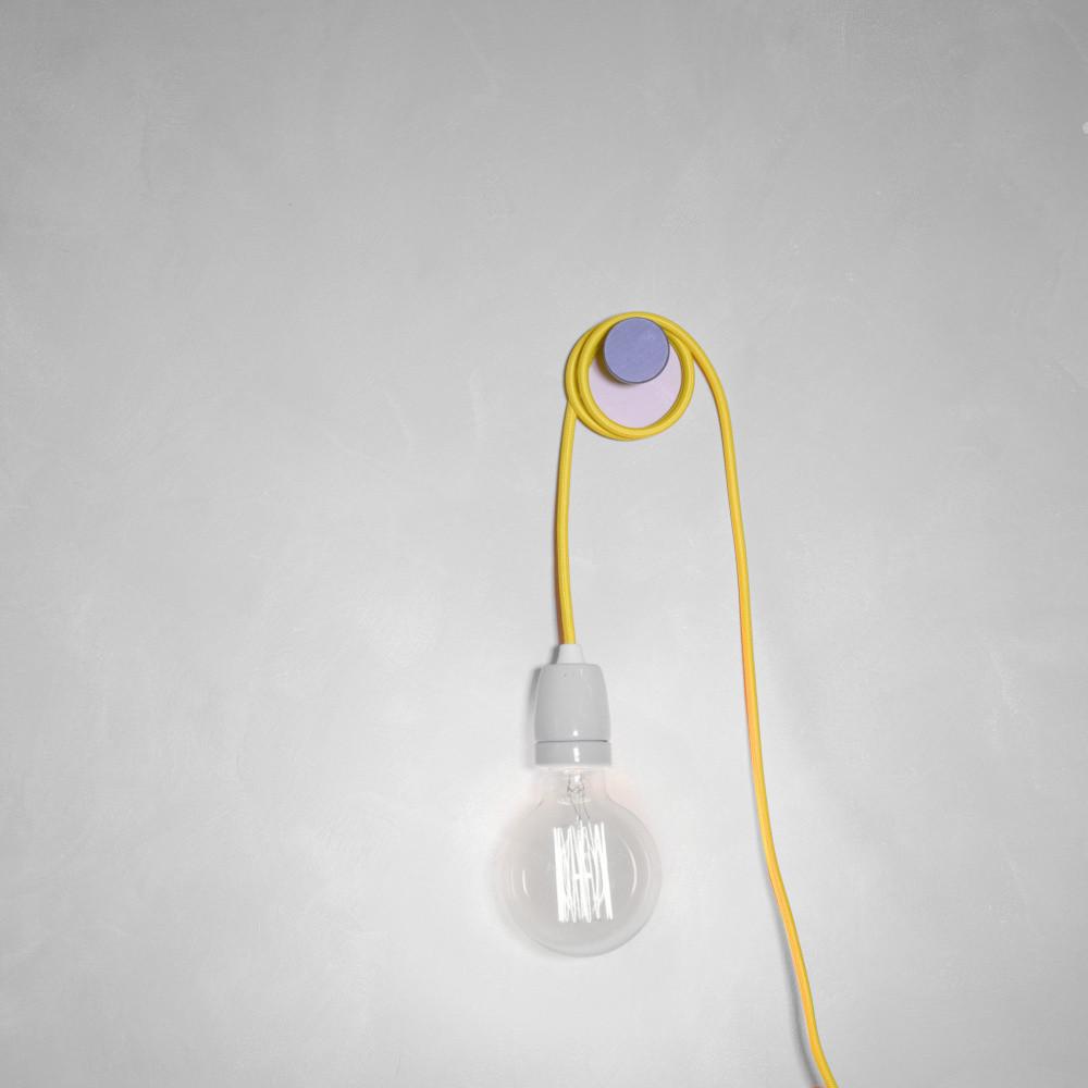 Žltý textilný kábel s objímkou Filament Style Cable