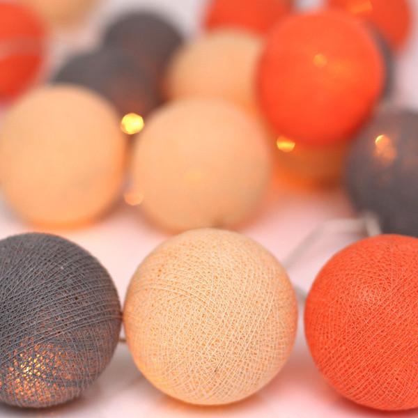 Svietiaca reťaz Irislights Peach Marble,10svetielok