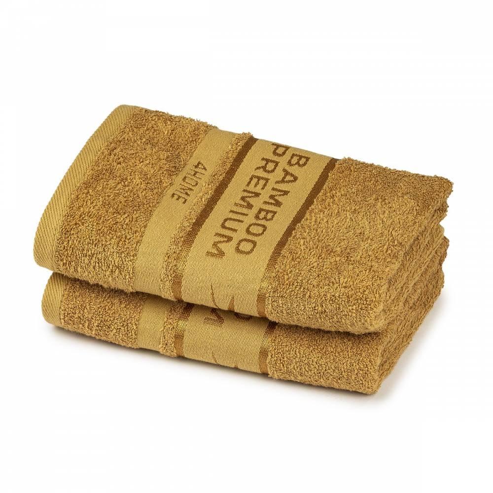 4Home Bamboo Premium uterák tmavo béžová, 50 x 100 cm, sada 2 ks