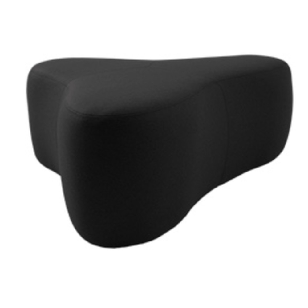 Čierny puf Softline Chat Felt Black, dĺžka 130 cm