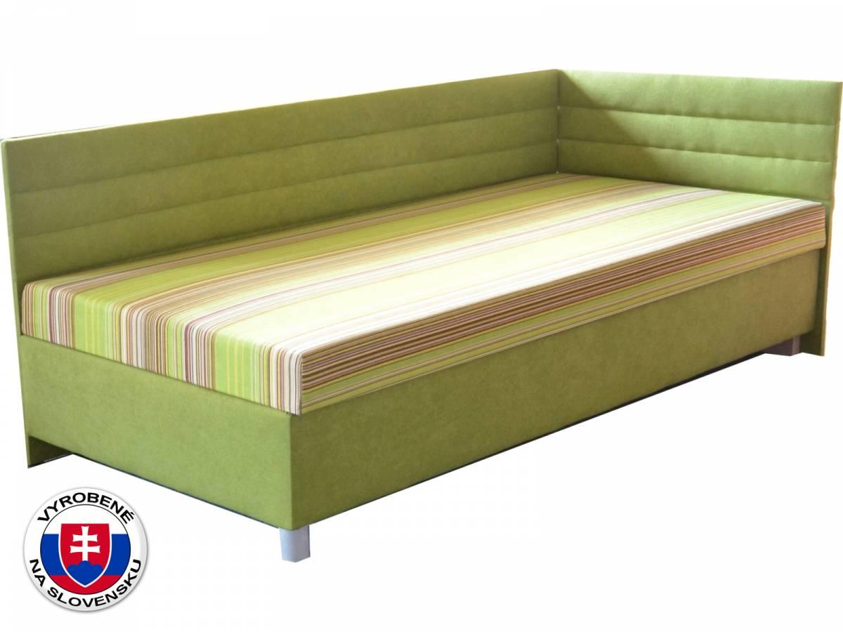 Jednolôžková posteľ (váľanda) 110 cm Etile 2 (so 7-zónovým matracom lux) (P)
