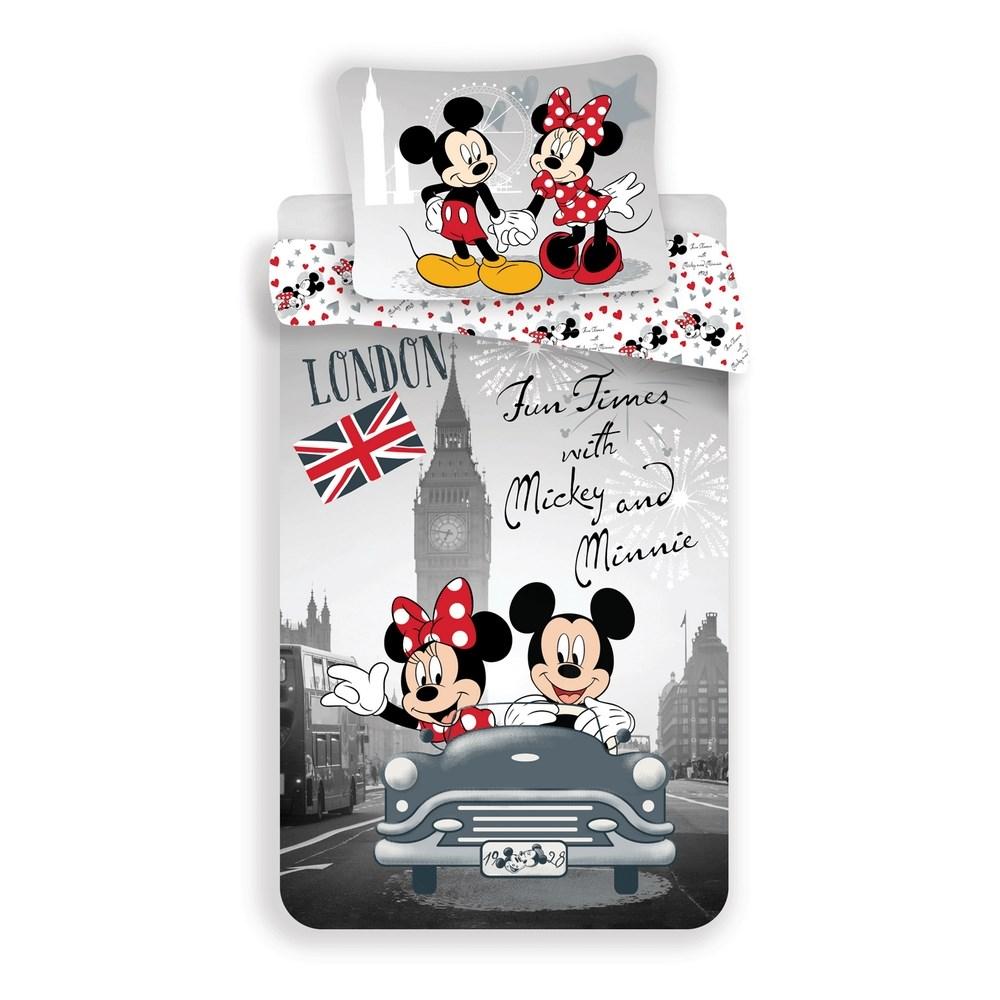 Jerry Fabrics Detské bavlnené obliečky Mickey & Minnie In Love, 140 x 200 cm, 70 x 90 cm