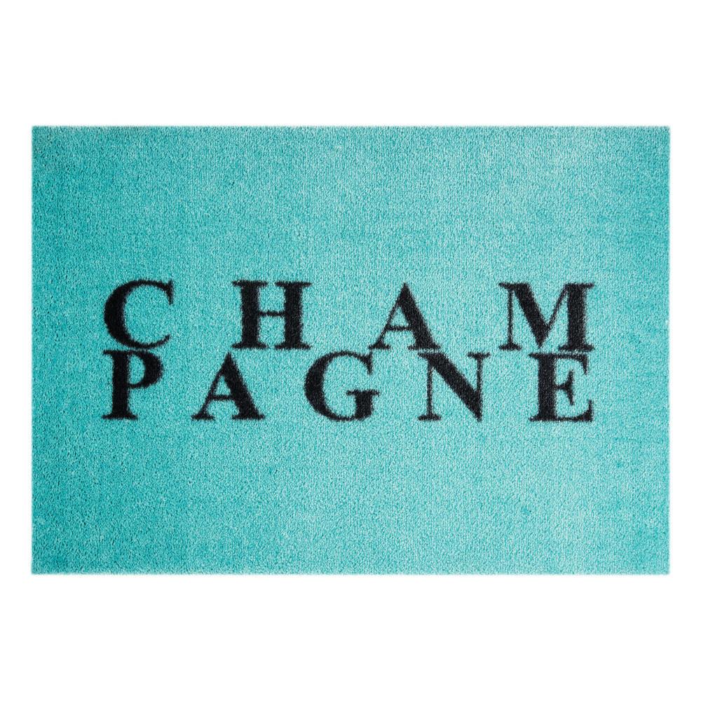 Modrá rohožka Mint Rugs  StateMat Champagne, 50x75cm