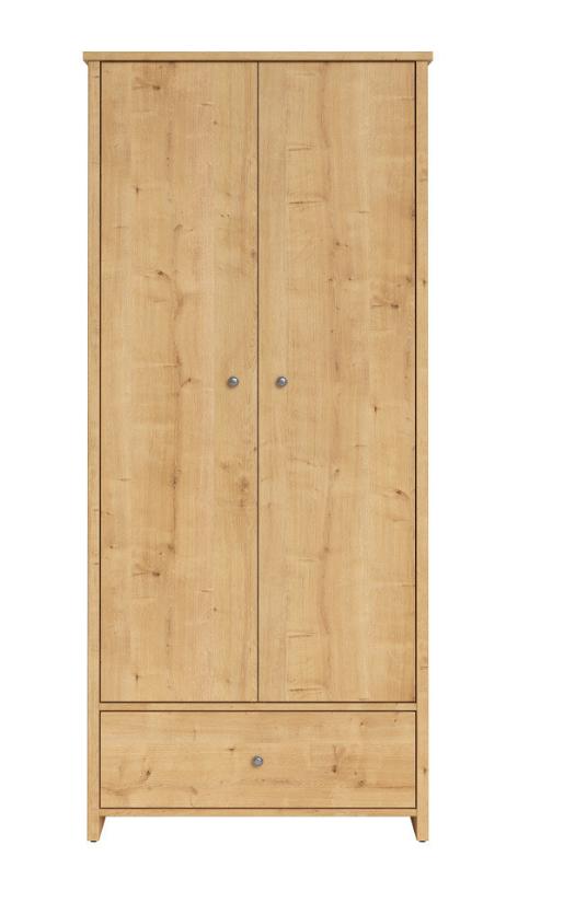 Šatníková skriňa Porto SZF2D1S   Farba: dub prírodný burlington