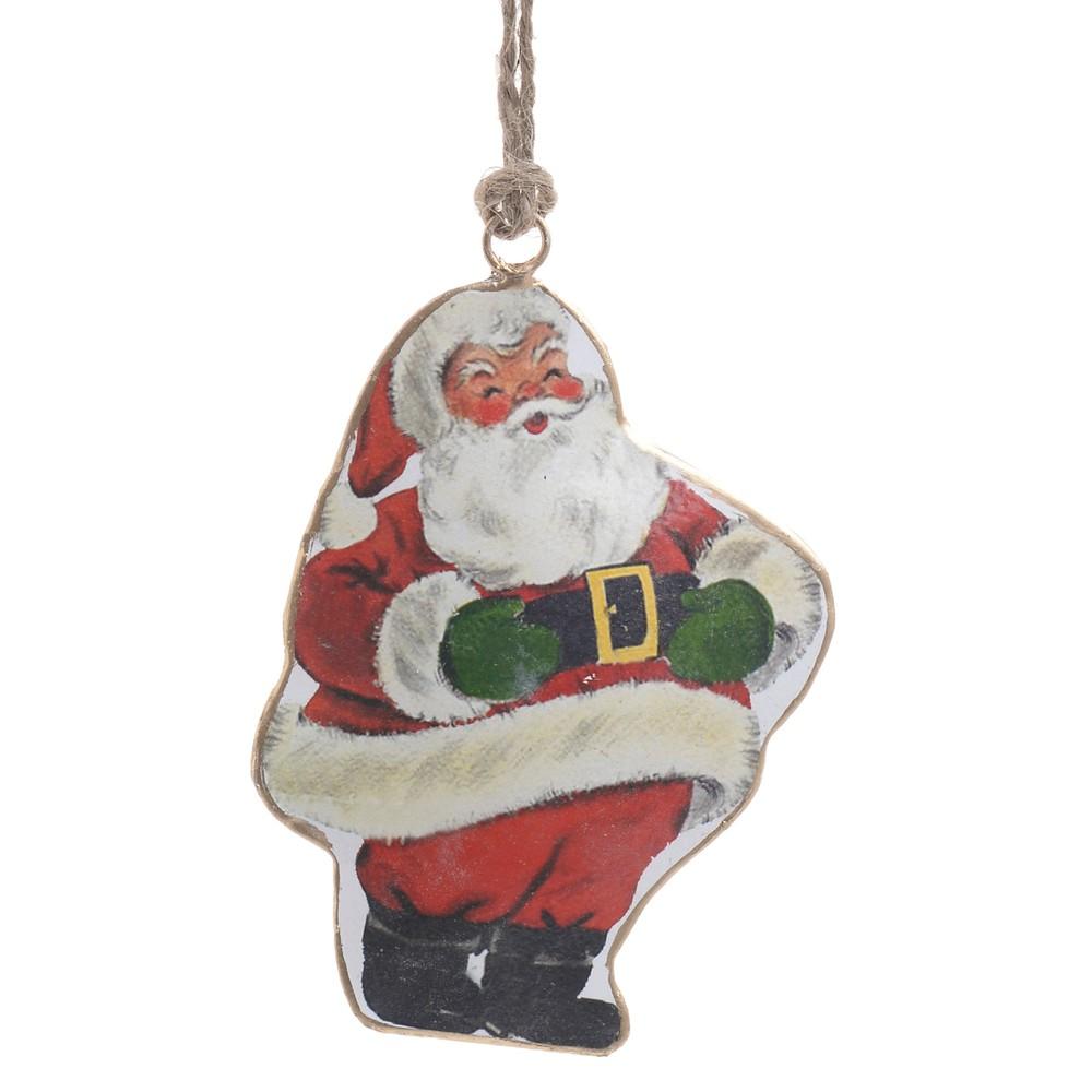 Vianočná závesná dekorácia v tvare Santu InArt Amber