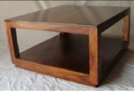 Furniture nábytok  Masívny konferenčný stolík  z Palisanderu  Čandar  90x90x45 cm