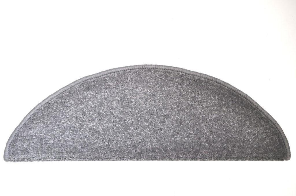 Kobercové nášľapy na schody Eton 24 x 65 cm - Šedá
