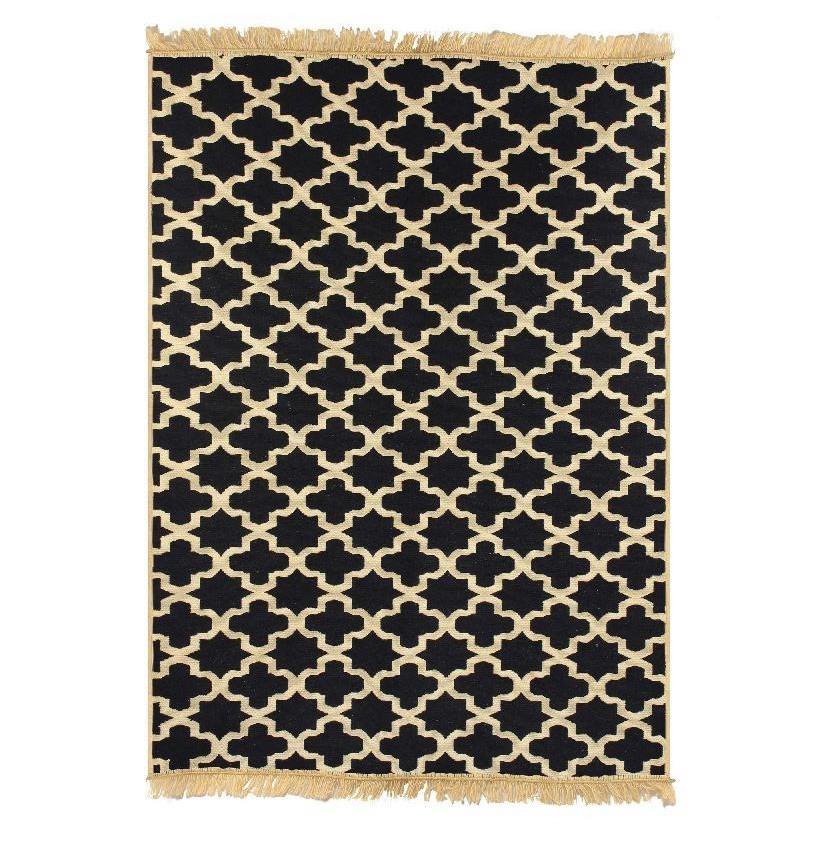 Tmavomodrý koberec Floorist Tan Dark Blue,60x90cm