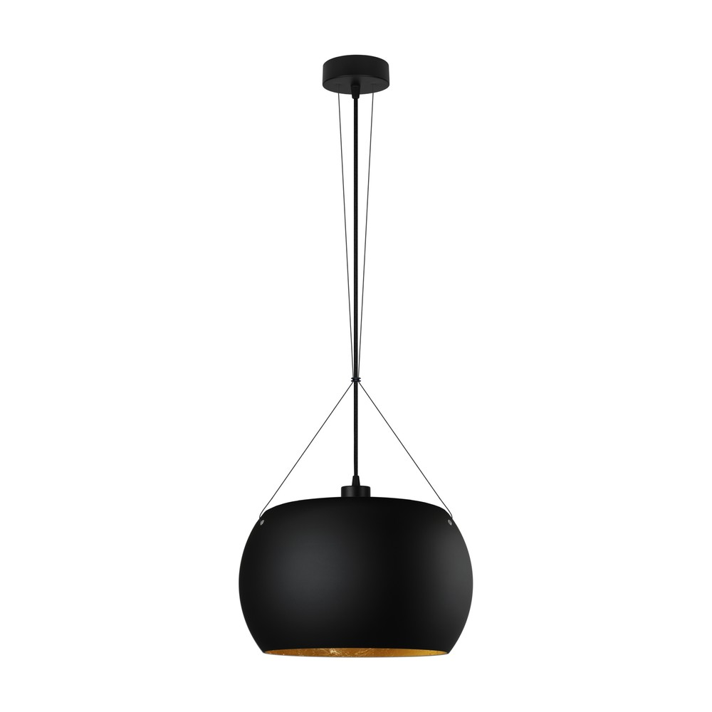 Čierno-zlaté závesné svietidlo Sotto Luce Momo