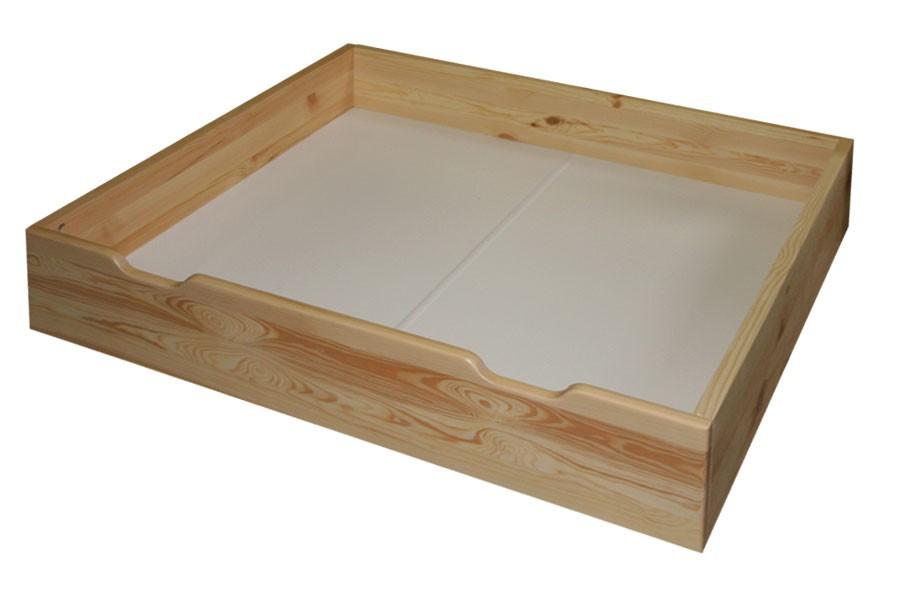 Bradop Zásuvka pod posteľ, masív smrek B475