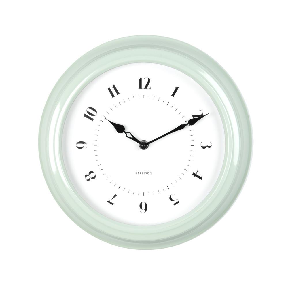 Zelené nástenné hodiny ETH Fifties, priemer 30cm