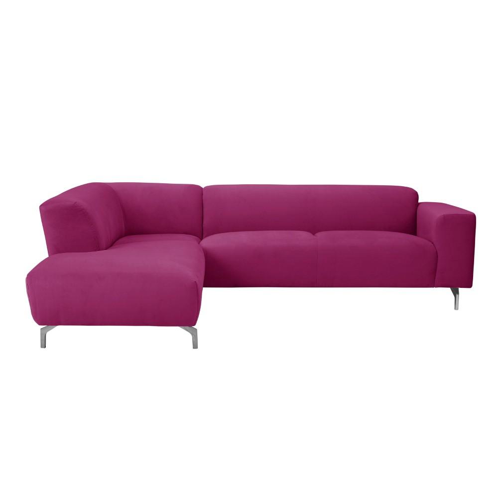 Ružová rohová pohovka Windsor & Co Sofas Orion, ľavý roh