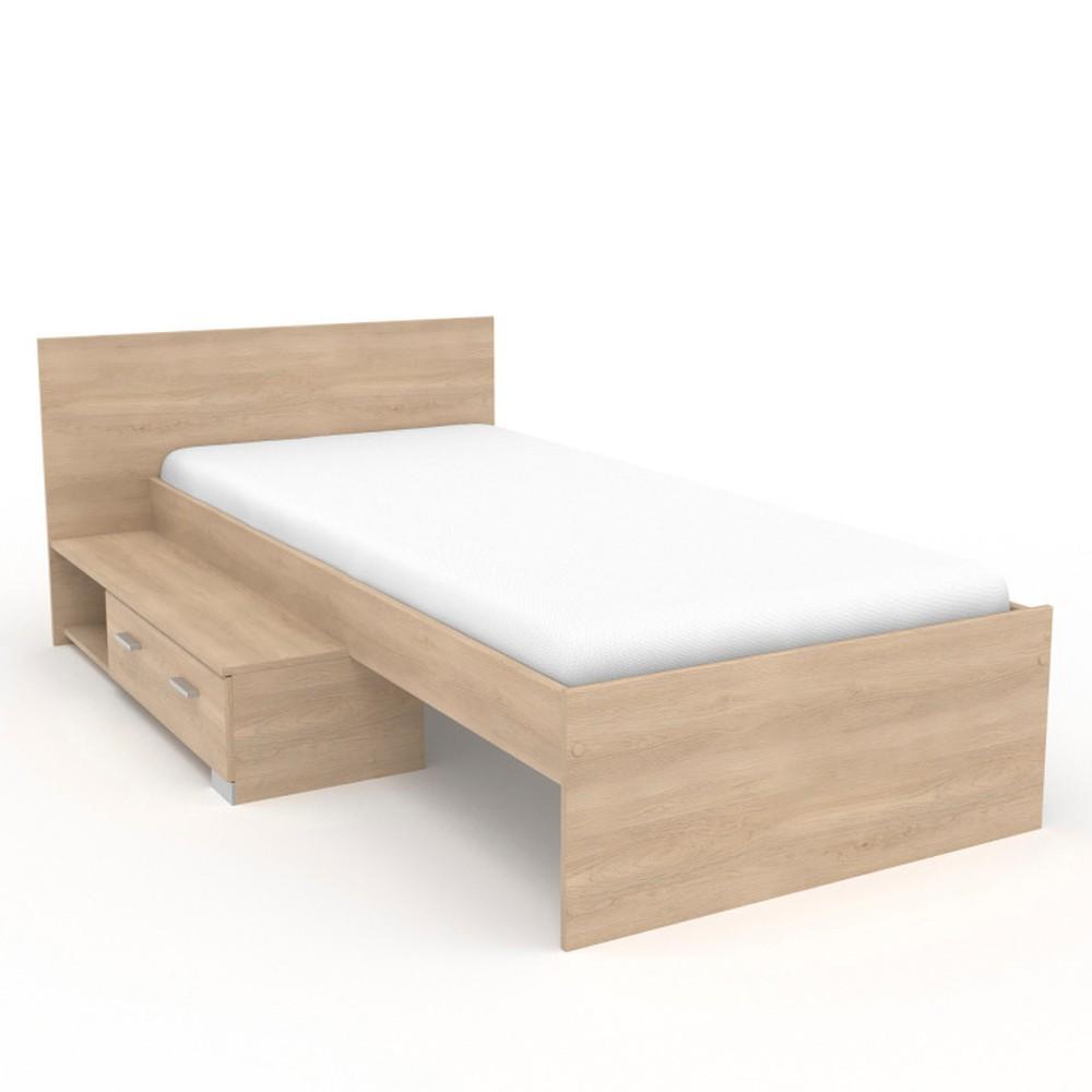 b1e759f81f5e Jednolôžková posteľ v dekore dubového dreva Parisot Alix