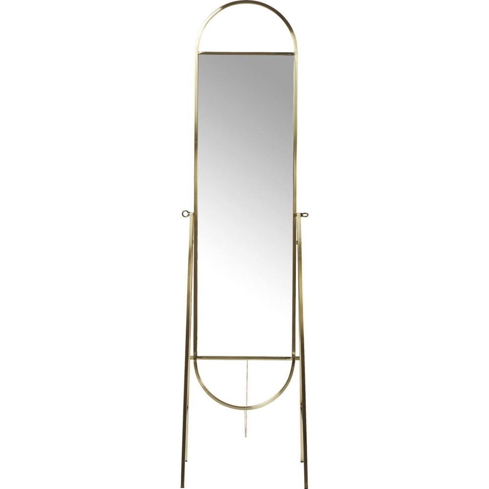 Voľne stojacie zrkadlo Kare Design Casino Messing
