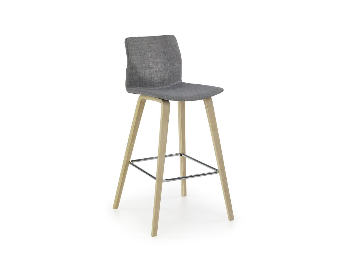Barová stolička H-80 (sivá + buk)