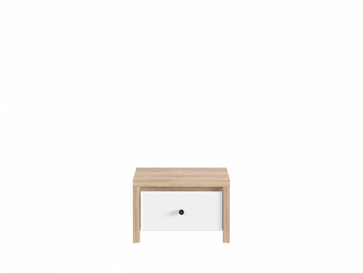 Nočný stolík Karet KOM1S (dub sonoma + biela matná)