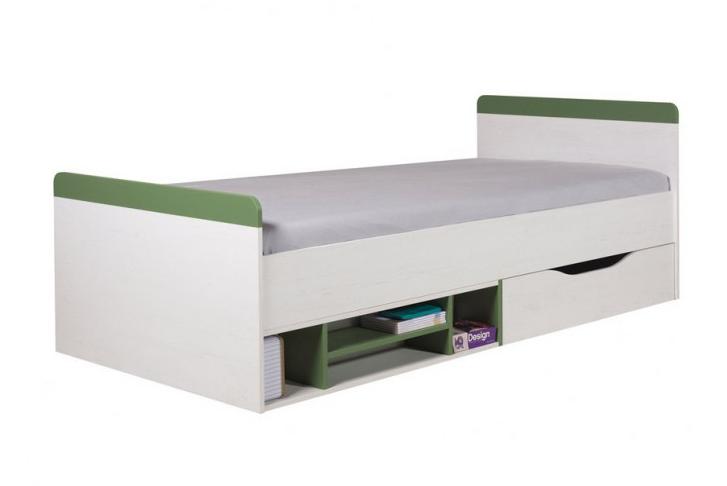 Detská posteľ Stone ST14 L/P   Farba: biela / zelená