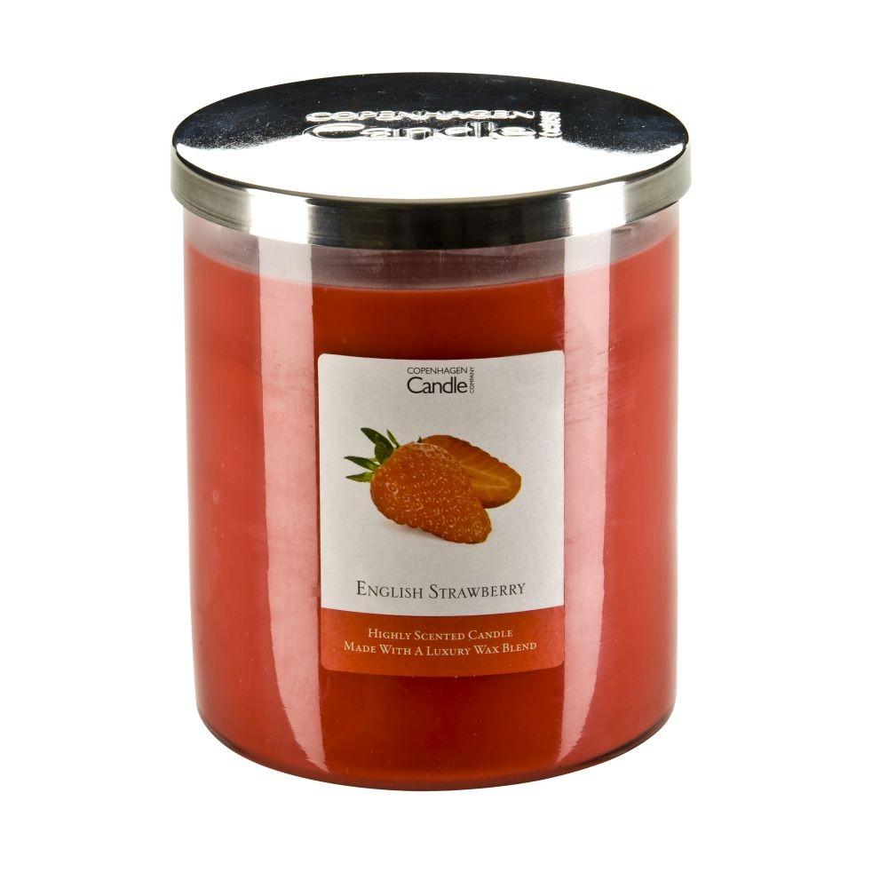 Aromatická sviečka Copenhagen Candles English Strawberry, doba horenia 70hodín