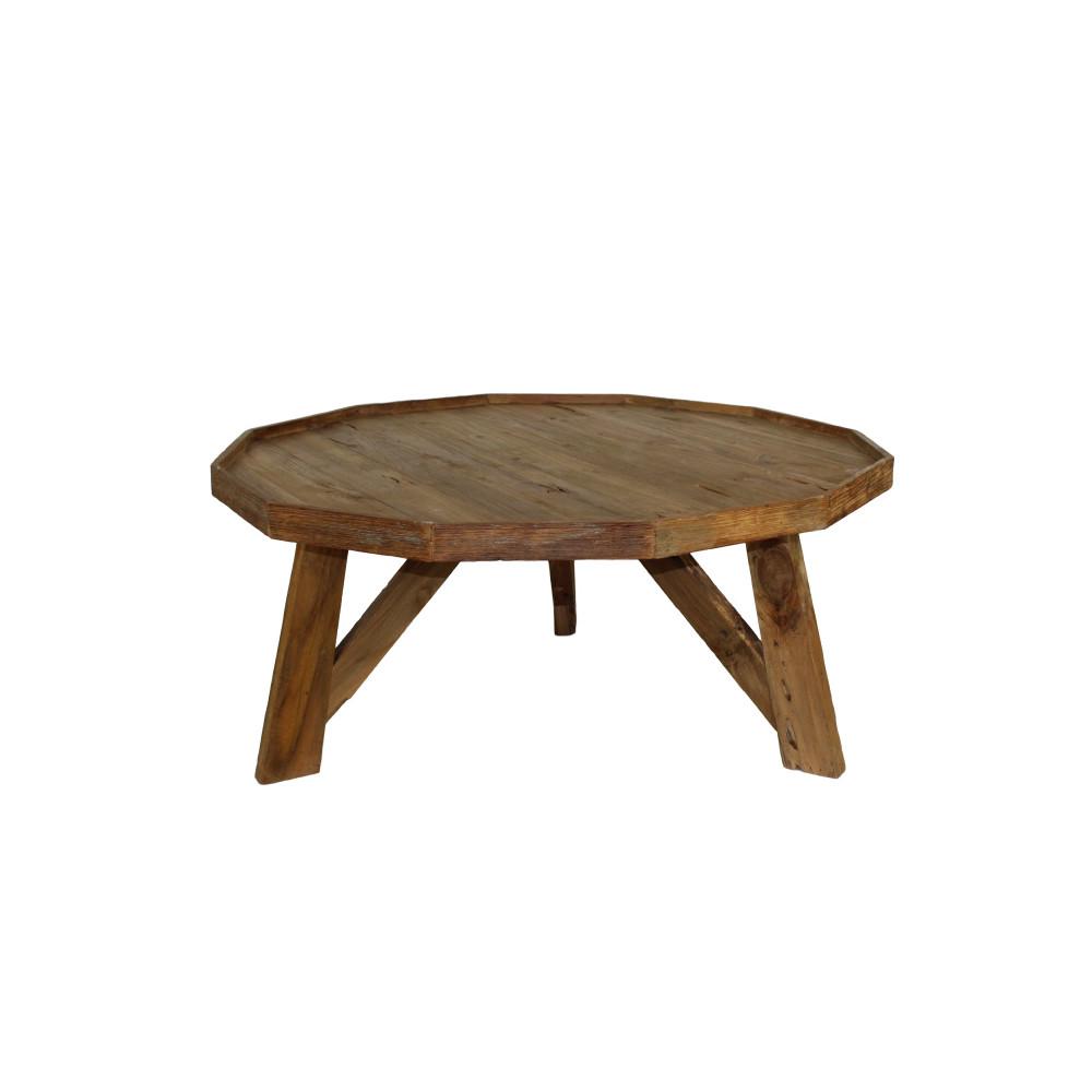 Konferenčný stolík z teakového dreva HSM Collection Diamond, Ø 90cm