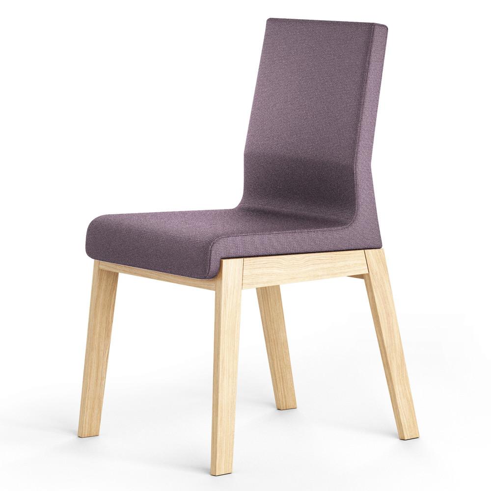 Tmavofialová stolička z dubového dreva Absynth Kyla