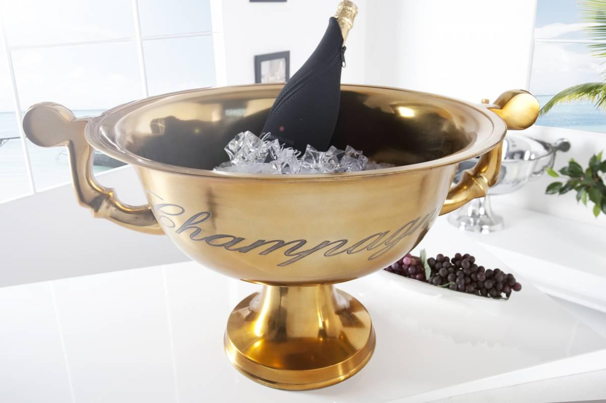 Bighome - Chladič na šampanské CHAMPAGNE 65 cm - zlatá