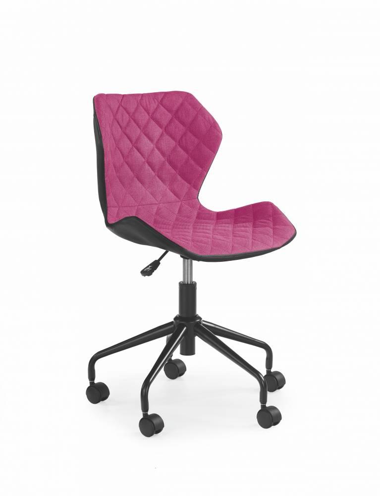 Detská stolička Matrix (ružová + čierna)