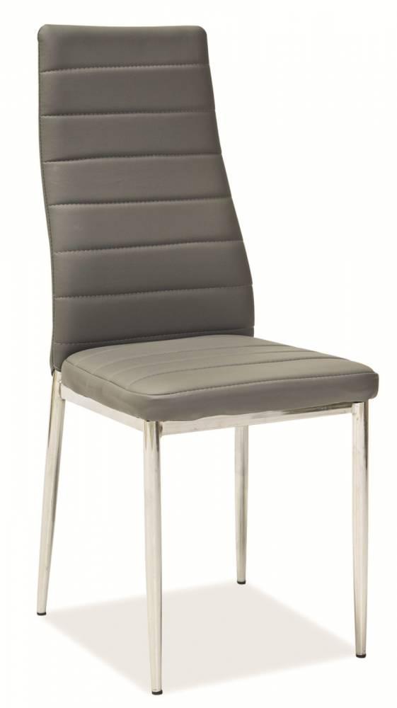 Jedálenská stolička H-261 (ekokoža sivá)
