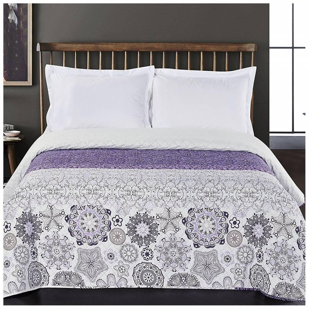 DecoKing Prehoz na posteľ Alhambra fialová, 220 x 240 cm