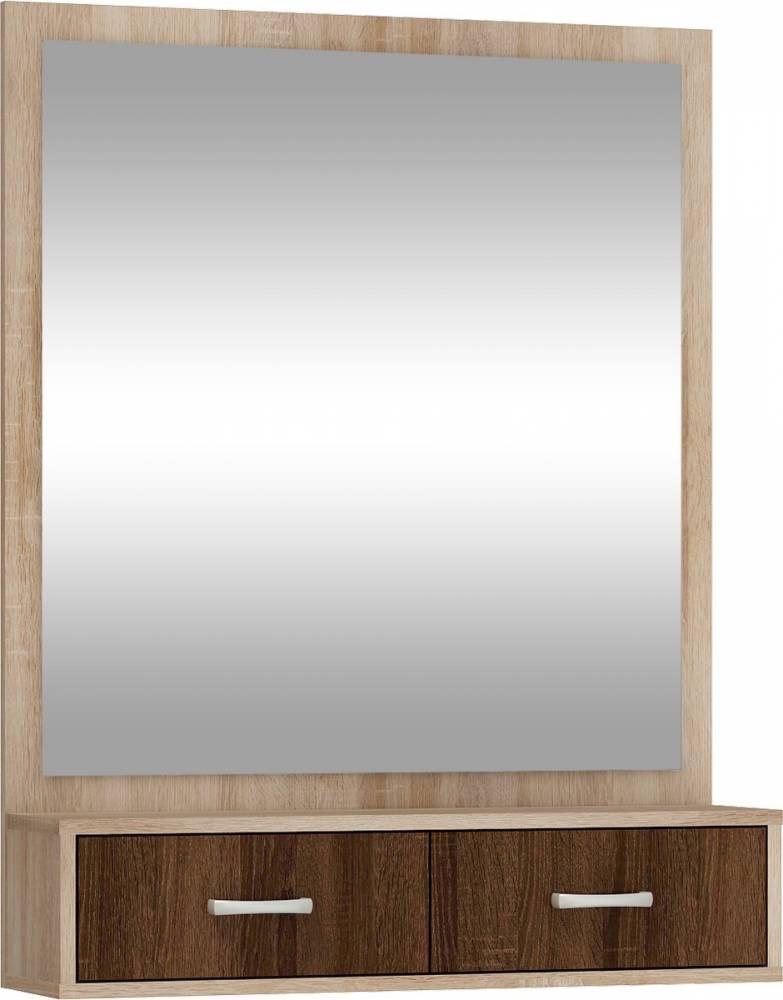 WIP PORTO zrkadlo - sonoma svetlá / sonoma tmavá