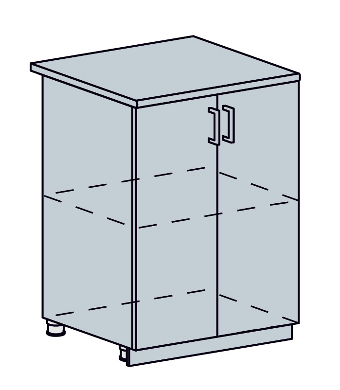 PROVENSAL dolná 2-dverová skrinka 60D sv.modrá