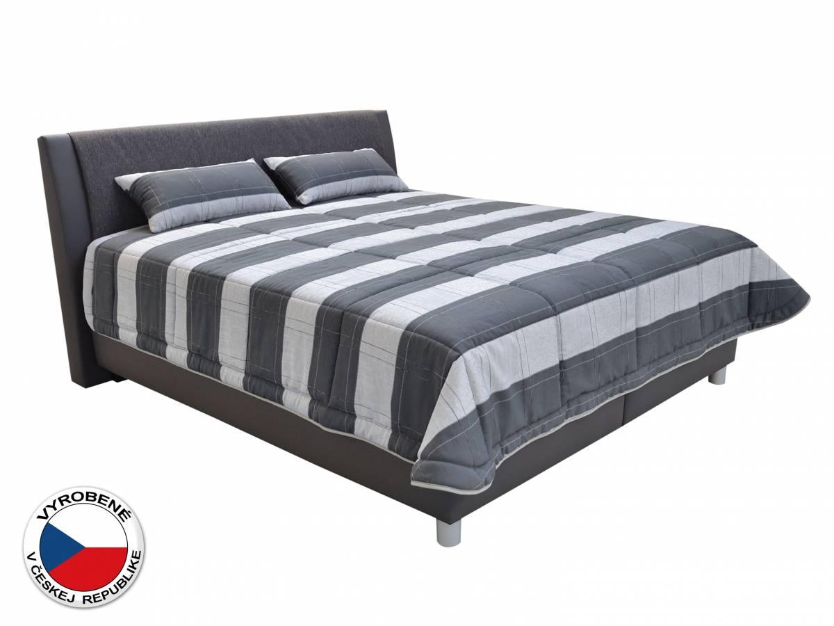 Manželská posteľ 180 cm Blanár Taranto (sivá) (s roštami a matracmi Nelly Plus)
