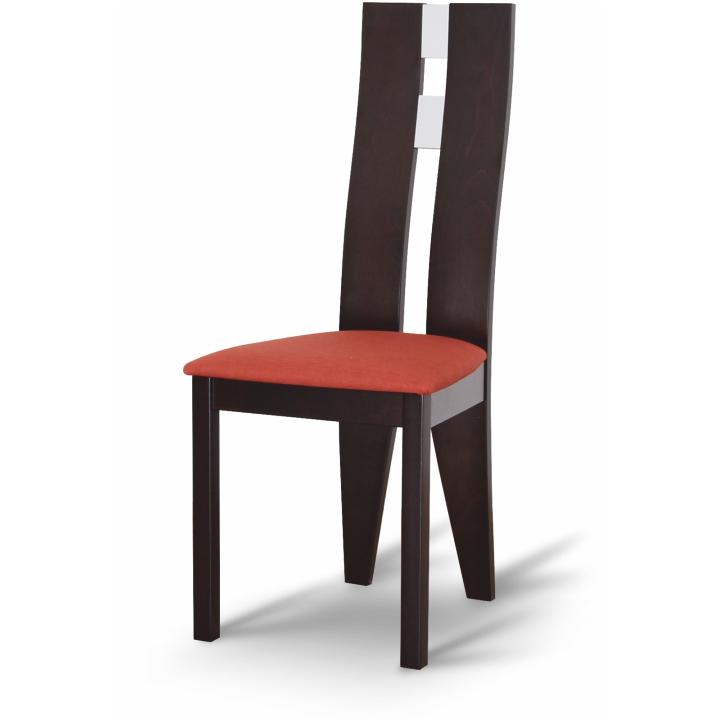 TEMPO KONDELA BONA jedálenská stolička - wenge / terakota
