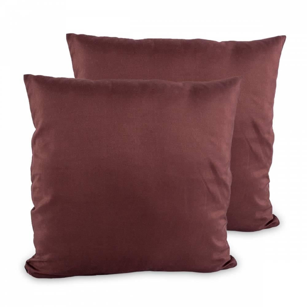 4Home Obliečka na vankúšik hnedá, 2x 40 x 40 cm, 40 x 40 cm