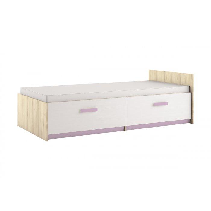 ML MEBLE BEST 17 90 posteľ - breza / biela linea / levandulová