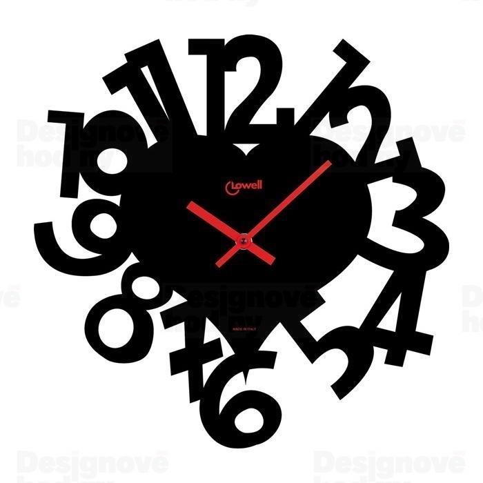 Nástenné hodiny CUORE - čierna