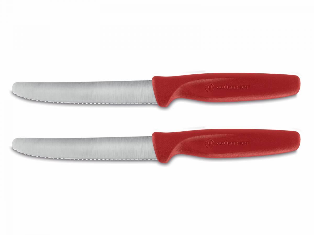 Sada nožov na zeleninu Create Wüsthof zúbkované červené 2 ks