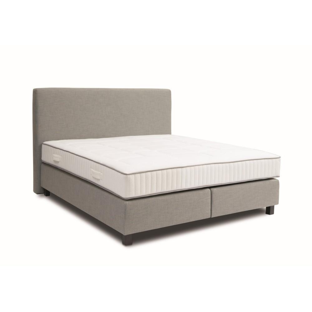 Svetlosivá boxspring posteľ Revor Roma, 200 x 200 cm