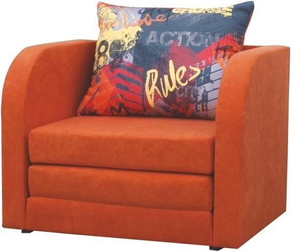 Rozkladacie kreslo, oranžová, RENO