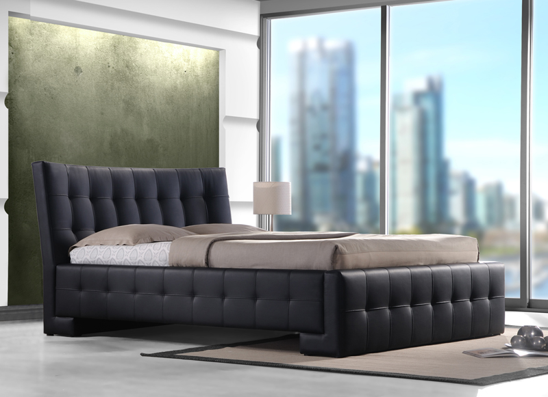 Čalúnená manželská posteľ COBE180