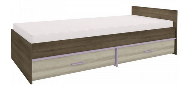 Detská posteľ GEOMETRIC 07 / AGÁT / BREST   Farba: Fialová