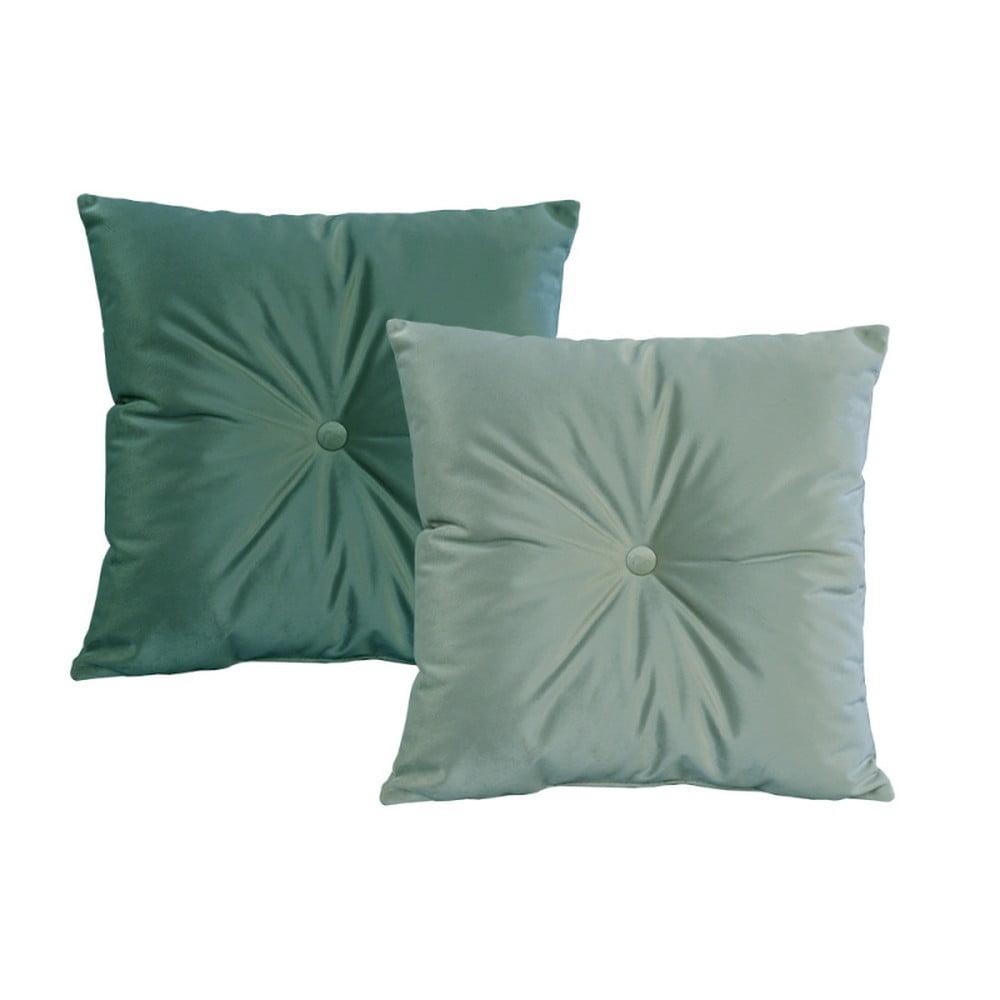 Sada 2 zelených vankúšov JohnsonStyle Magic Velvet, 55 x 55 cm