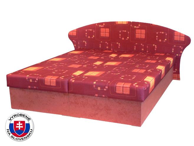 Manželská posteľ 160 cm Lukáš (s pružinovým matracom)