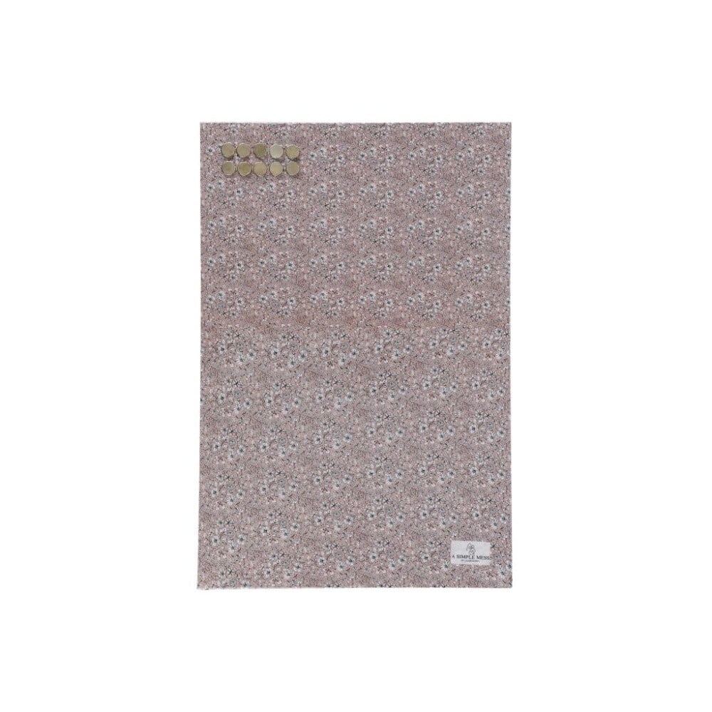 Kovová tabuľa na odkazy A Simple Mess Paule Pale Mauve, 40×60 cm