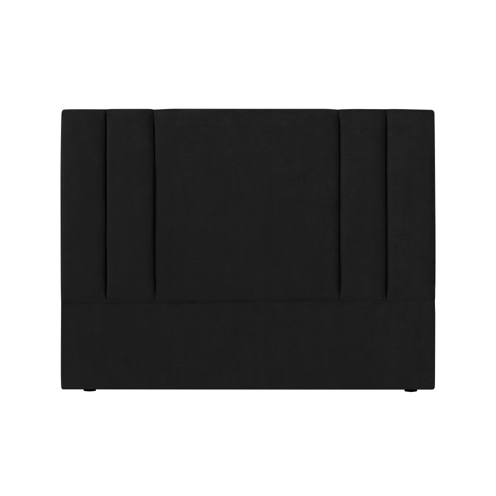 Čierne čelo postele Kooko Home Kasso, 120 × 180 cm