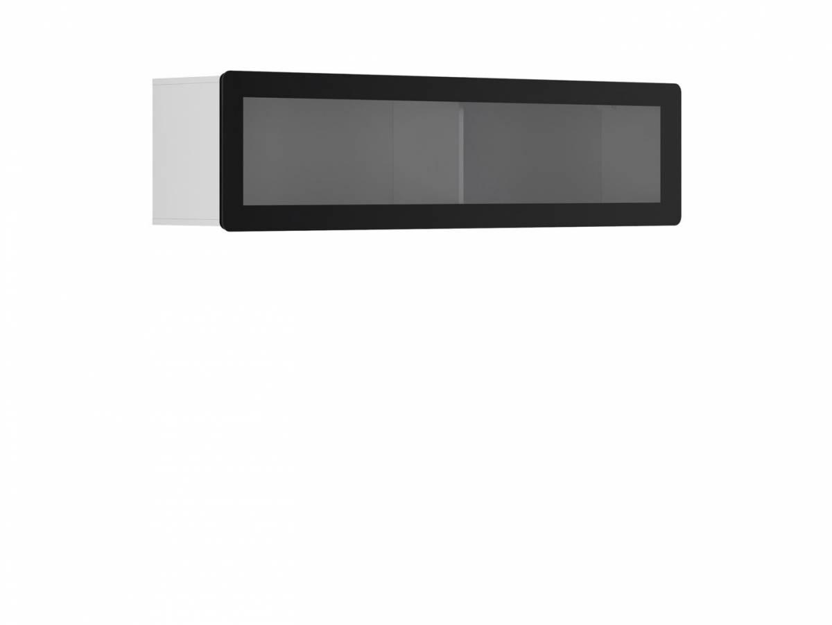 Vitrína na stenu Possi Light SFW1WK/4/16 (biela) (s osvetlením)