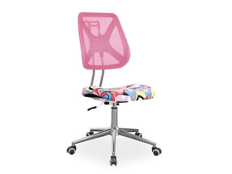 Detská stolička Alto (ružová + vzor)