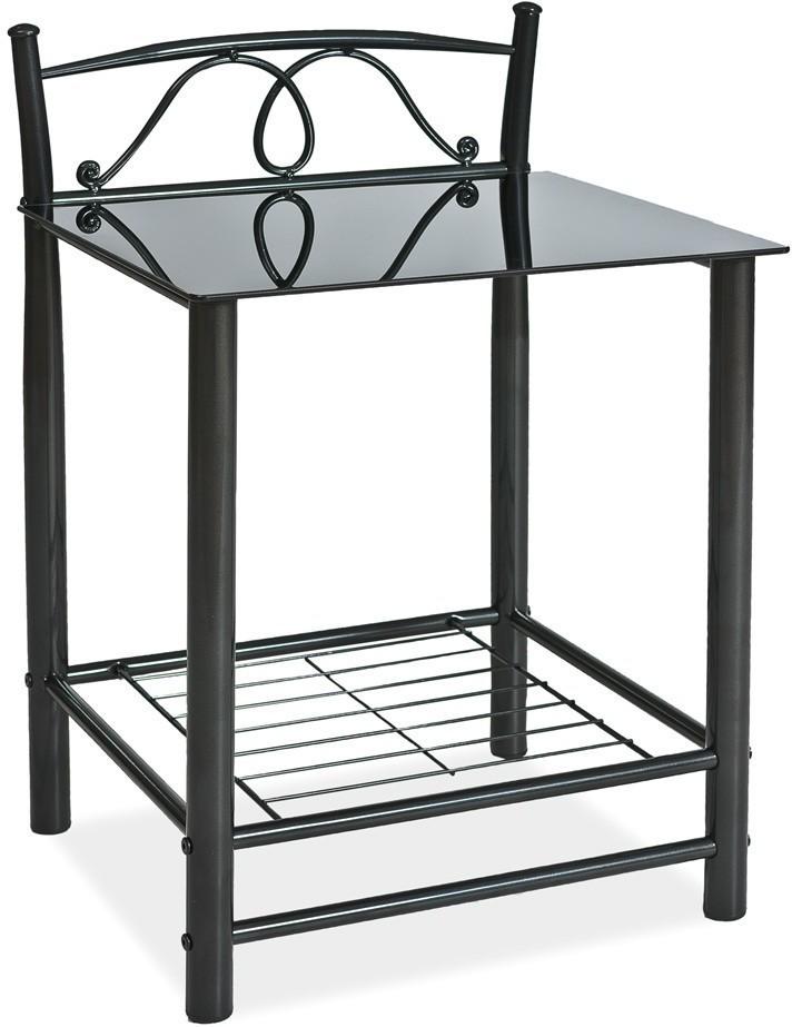 SIGNAL ET-920 nočný stolík - čierna